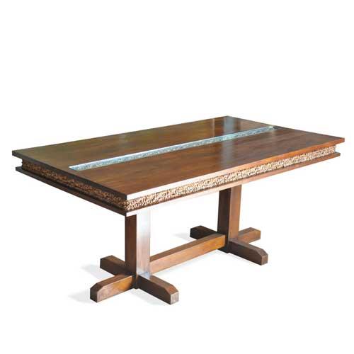 チーク&ウォーターヒヤシンスのダイニングテーブル
